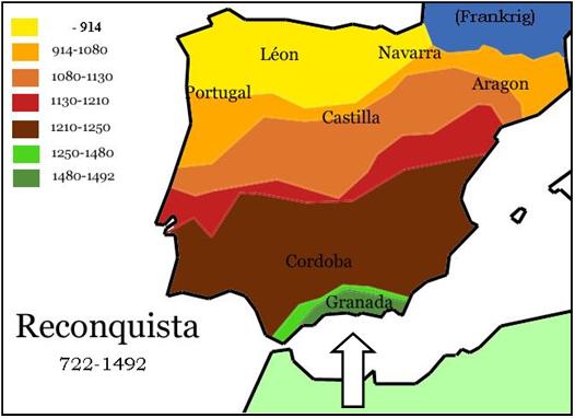 Map Of Spain 1492.Spain The Fall Of Granada 1492 H7
